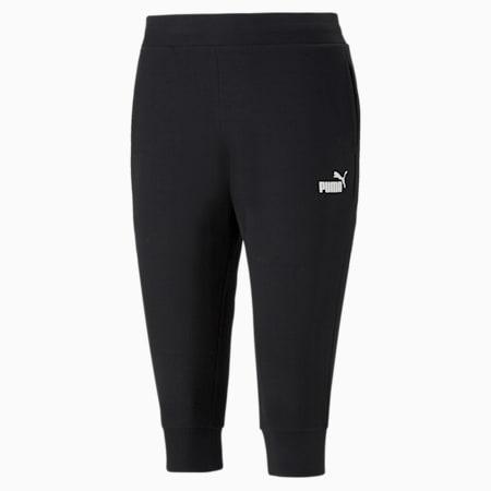 Essentials Capri Women's Sweatpants, Puma Black, small-GBR