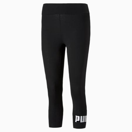 Essentials Logo 3/4 Women's Leggings, Puma Black, small