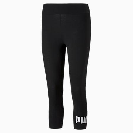 Leggings 3/4 Essentialscon logo para mujer, Puma Black, pequeño