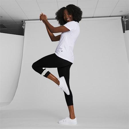 Essentials Women's 3/4 Logo Leggings, Puma Black, small