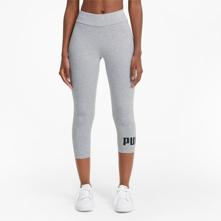Essentials Women's 3/4 Logo Leggings, Light Gray Heather, small