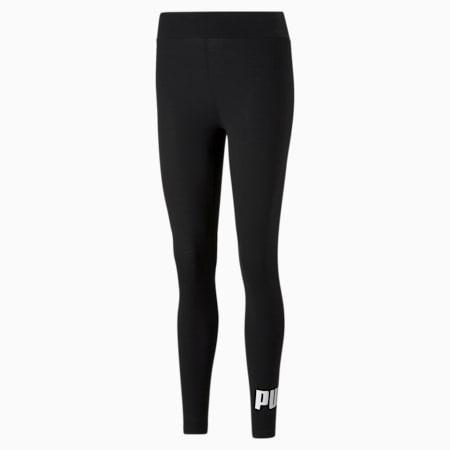 Essentials Logo Women's Leggings, Puma Black, small-GBR