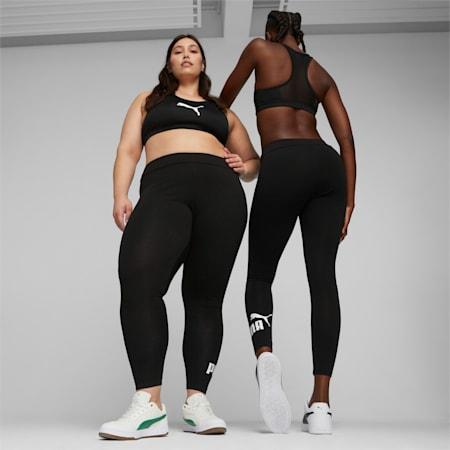 Essentials Logo Damen Leggings, Puma Black, small