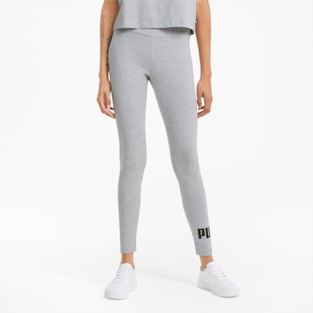 Damskie legginsy Essentials z logo, Light Gray Heather, small