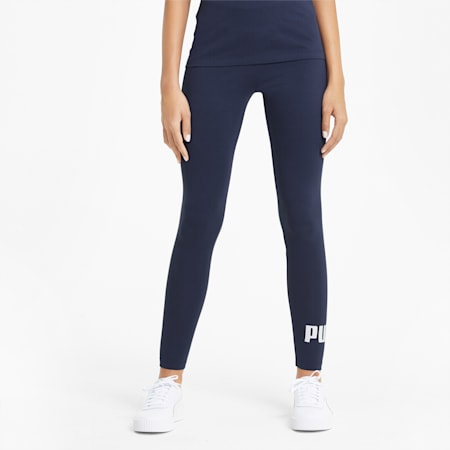 Essentials Logo Damen Leggings, Peacoat, small