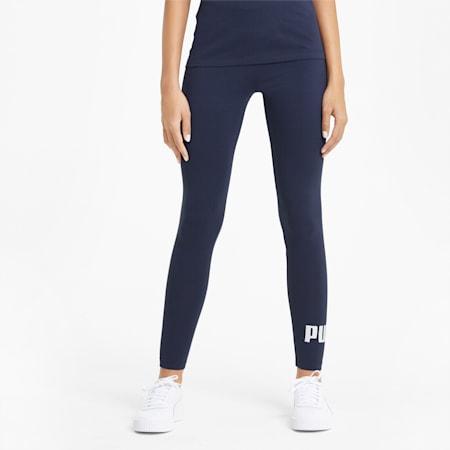 Essentials legging met logo dames, Peacoat, small