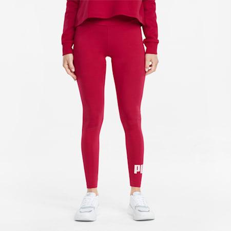 Essentials legging met logo dames, Persian Red, small