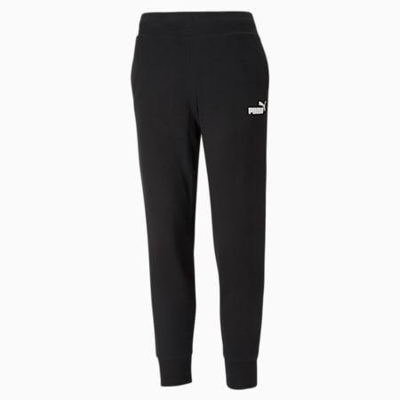 Essentials Regular Fit Women's Sweat Pants, Puma Black, small-IND