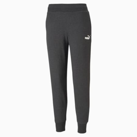 Essentials Regular Fit Women's Sweat Pants, Dark Gray Heather, small-IND