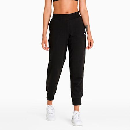 Essentials Women's Sweat Pants, Puma Black-CAT, small-IND