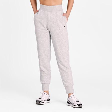 Essentials Regular Fit Women's Sweat Pants, Light Gray Heather-CAT, small-IND