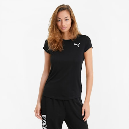 Damski T-shirt Active, Puma Black, small