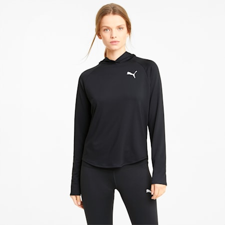 Active hoodie dames, Puma Black, small