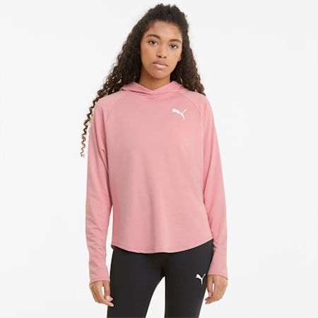 Active Women's Hoodie, Bridal Rose, small