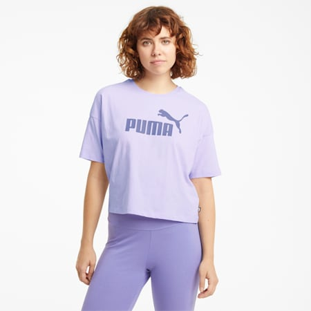 Essentials Logo Cropped Women's Tee, Light Lavender, small-GBR