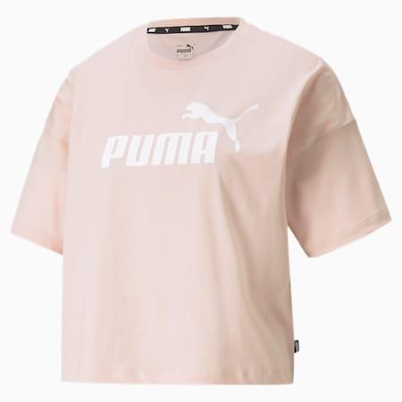 Essentials Logo Cropped Damen T-Shirt, Lotus, small