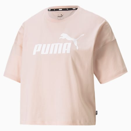 Essentials Logo Cropped Women's Tee, Lotus, small