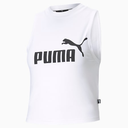 Camiseta sin mangas cuello alto Essential para mujer, Puma White, pequeño
