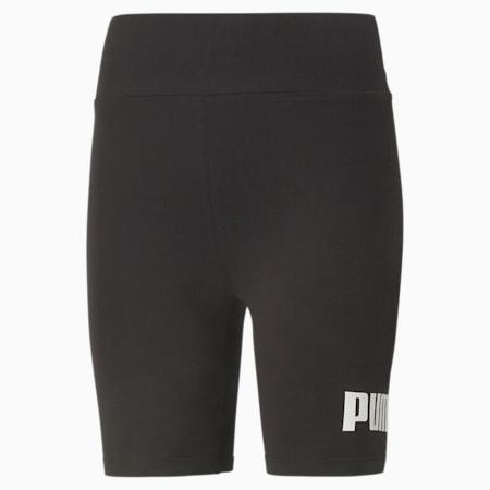 Essentials Logo Women's Short Leggings, Puma Black, small-GBR