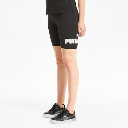 Essentials Logo Women's Short Leggings, Puma Black, small-SEA