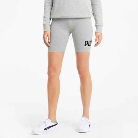 Essentials Logo Women's Short Leggings, Light Gray Heather, small-GBR