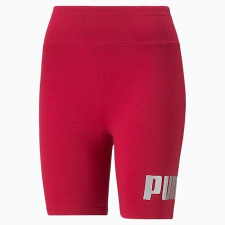Essentials+ Metallic Women's Short Leggings, Persian Red-Gold, small-GBR