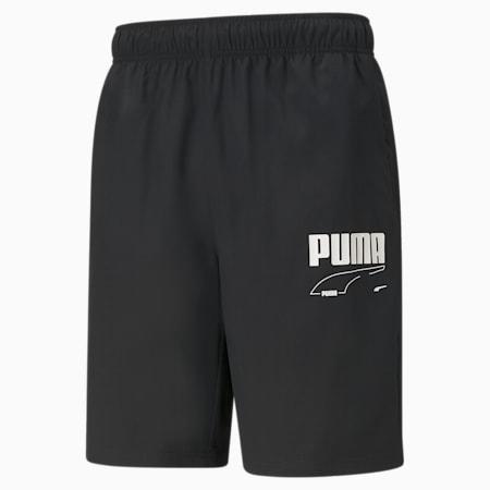 Rebel Woven Men's Shorts, Puma Black, small-IND