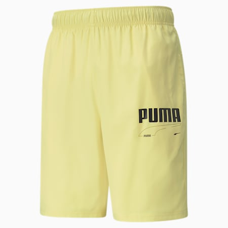 Rebel Woven Men's Shorts, Yellow Pear, small-IND
