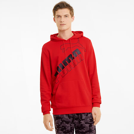Big Logo Men's Hoodie, High Risk Red, small-GBR