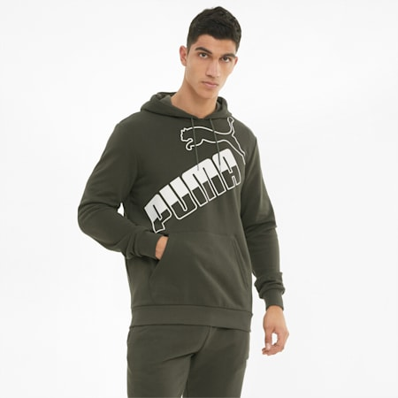 Big Logo Men's Hoodie, Forest Night, small