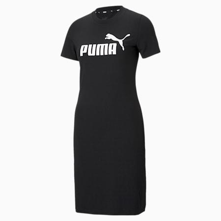 Essentials Slim Women's Tee Dress, Puma Black, small