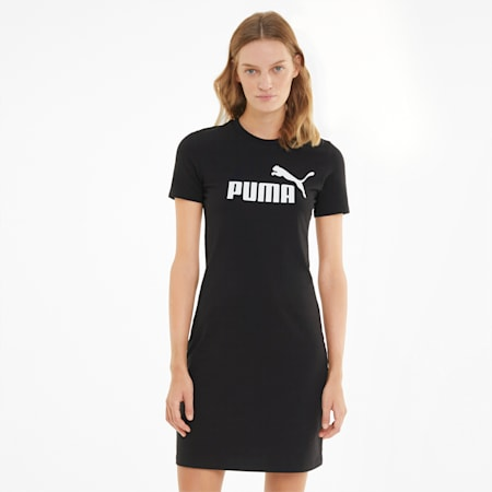 Essentials Slim Women's Tee Dress, Puma Black, small-GBR