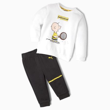 PUMA x PEANUTS Babies' Jogger Set, Puma White-Puma Black, small-GBR