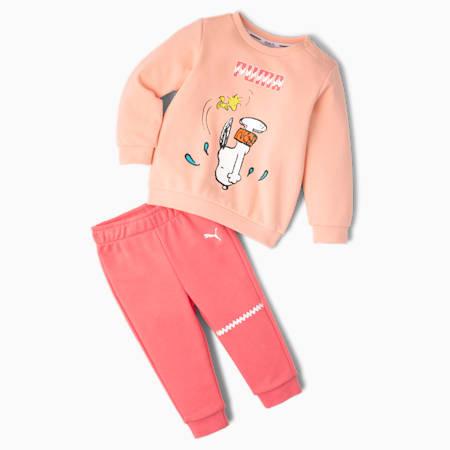 PUMA x PEANUTS Babies' Jogger Set, Apricot Blush, small