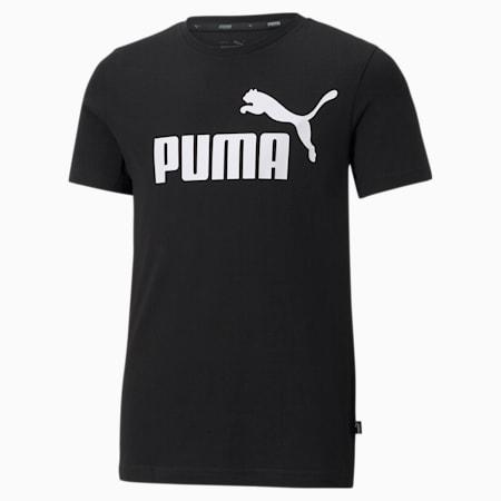 Młodzieżowy T-shirt Essentials z logo, Puma Black, small