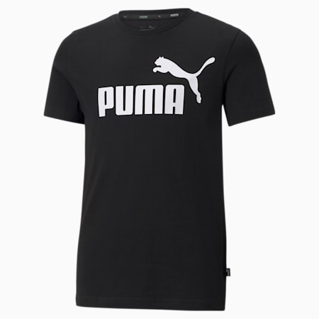 T-shirt con logo Essentials Youth, Puma Black, small