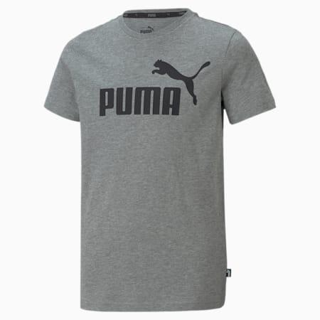 Essentials Jugend T-Shirt mit Logo, Medium Gray Heather, small