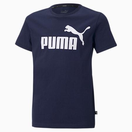 Młodzieżowy T-shirt Essentials z logo, Peacoat, small