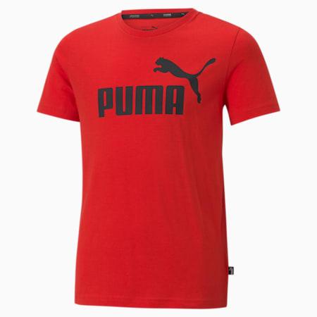 Młodzieżowy T-shirt Essentials z logo, High Risk Red, small
