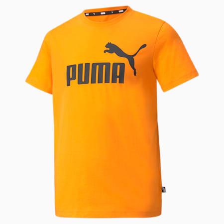 Młodzieżowy T-shirt Essentials z logo, Vibrant Orange, small