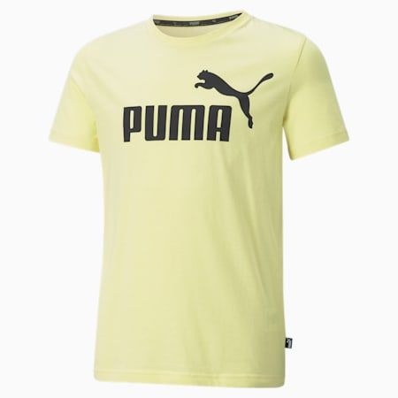 T-shirt con logo Essentials Youth, Yellow Pear, small