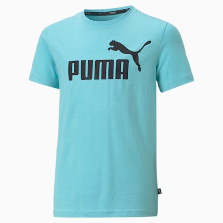 Młodzieżowy T-shirt Essentials z logo, Angel Blue, small