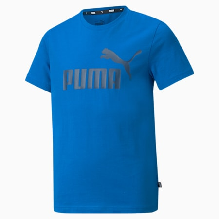 Essentials Logo Youth Tee, Future Blue, small