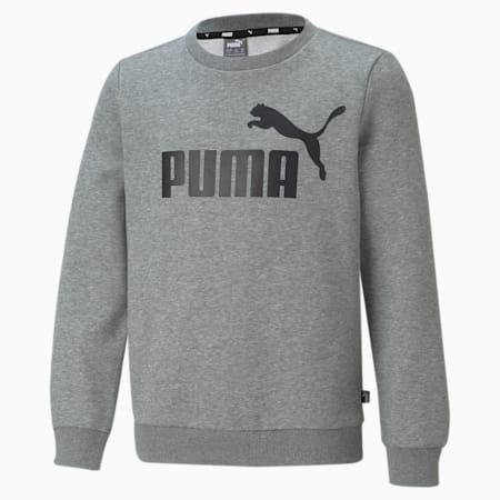 Essentials sweatshirt met groot logo jongeren, Medium Gray Heather, small