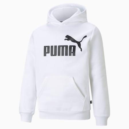 Essentials Big Logo Youth Hoodie, Puma White, small-GBR