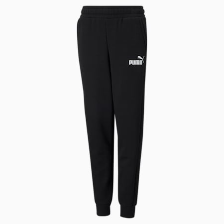 Młodzieżowe spodnie dresowe Essentials z logo, Puma Black, small