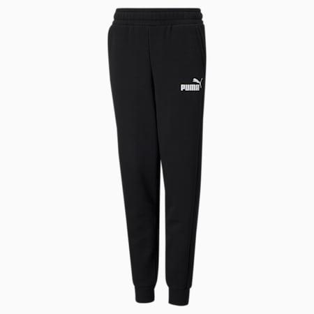 Essentials Logo Youth Sweatpants, Puma Black, small-GBR