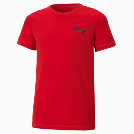 Active Small Logo Youth Tee, High Risk Red, small-SEA