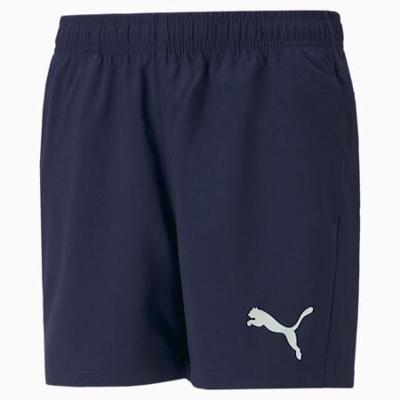 Active Gewebte Jugend Shorts, Peacoat, small