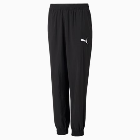 Młodzieżowe tkaninowe spodnie dresowe Active, Puma Black, small